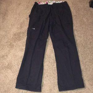 Koi black med petite scrub pants